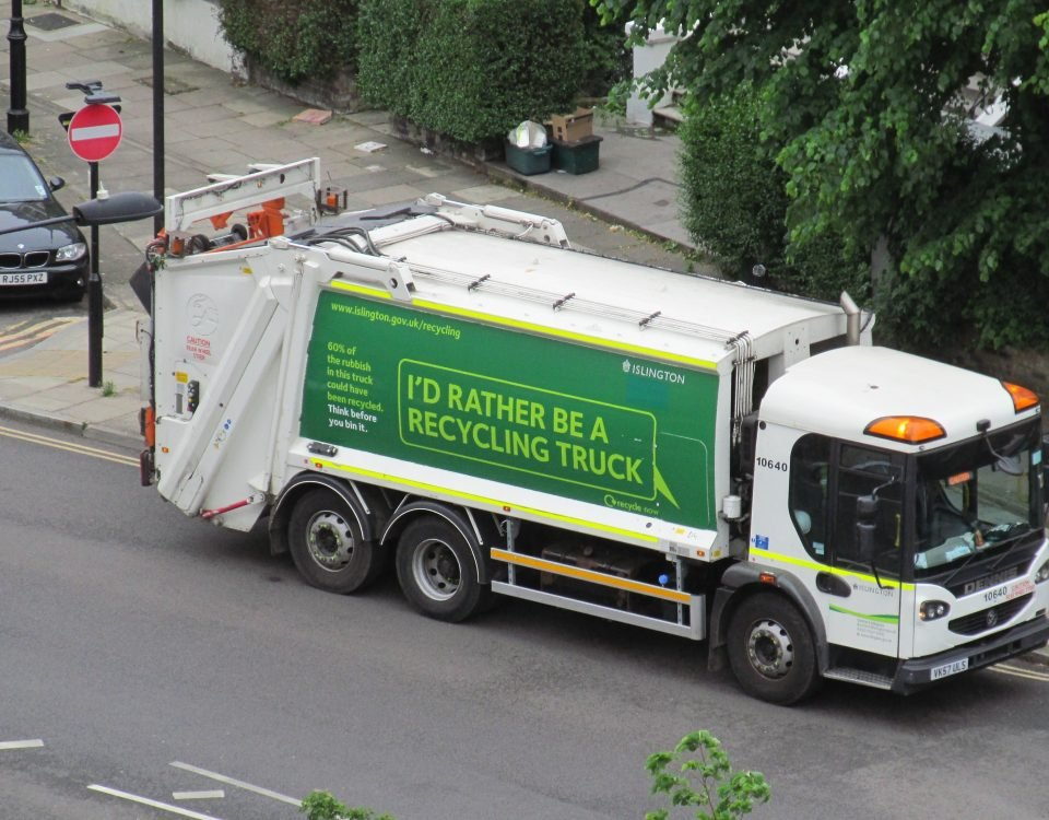 Refuse collection vehicle in London