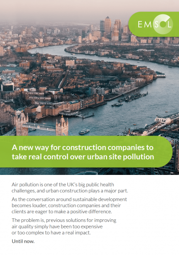 EMSOL - Take control of construction site pollution, quickly, efficiently and fast